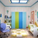 Маленькая детская комната после ремонта