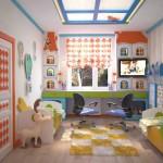 Дизайн детской для мальчика. Зонирование комнаты