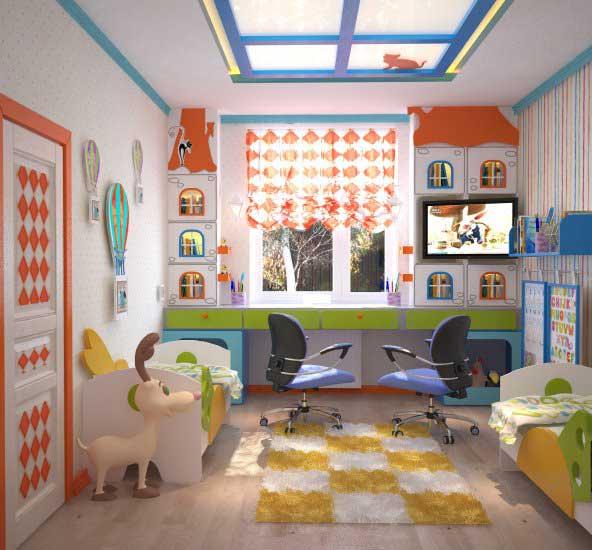 Детская комната 6 кв м дизайн фото