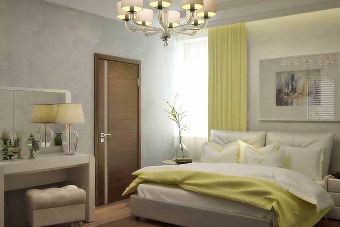 Дизайн маленькой спальни с большой кроватью. После ремонта