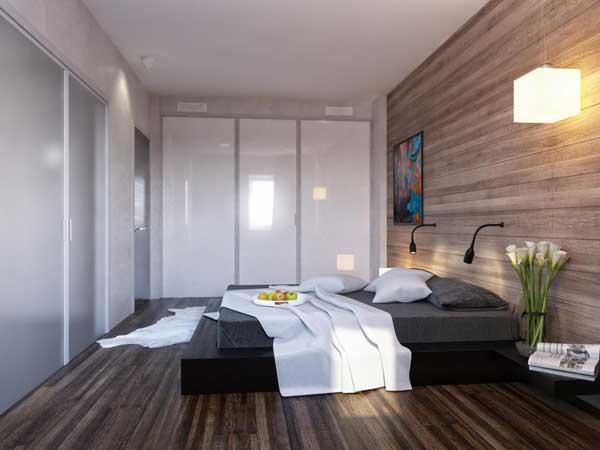 Встроенный шкаф купе в спальне. Фото 2