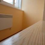 Отделка балкона листами гипсокартона. Фото