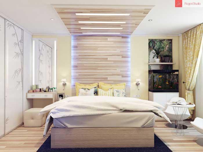Дизайнерский ремонт в спальне 15 кв. м. Фото 3