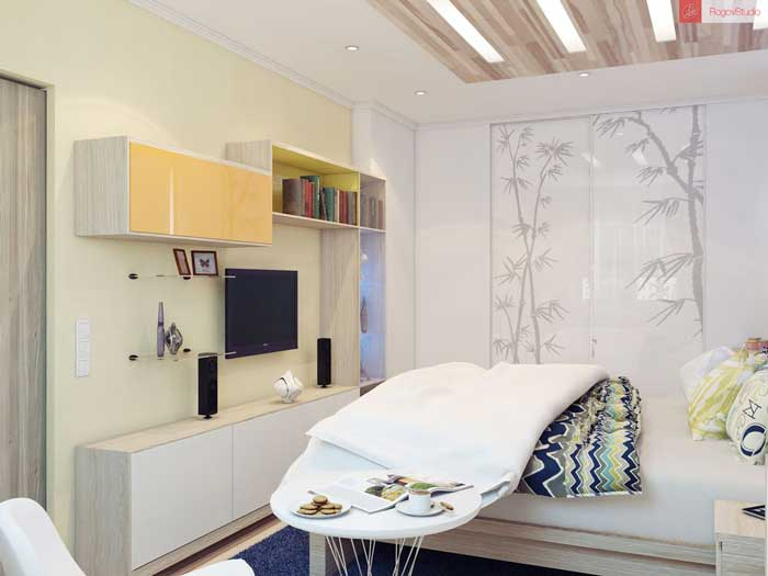 Дизайн маленькой спальни 15 кв