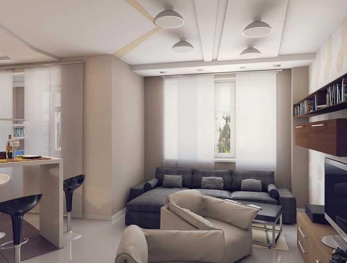 Дизайн квартиры студии 18, 19, 20 кв.м в стиле минимализм