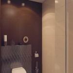 Совмещенная ванная шоколадного цвета дизайн