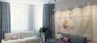 Дизайн штор в гостиной-кухне. Фото 3