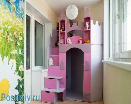 Балкон или лоджия в детской комнате. как использовать простр.