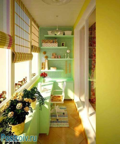 Организация пространства для ребенка на балконе. Фото