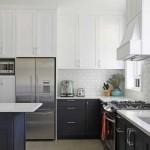 Интерьера кухни в черно белом цвете