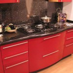 Кухни в черно-красном цвете. Фото 17