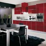 Кухня черная с красным. Фото 15