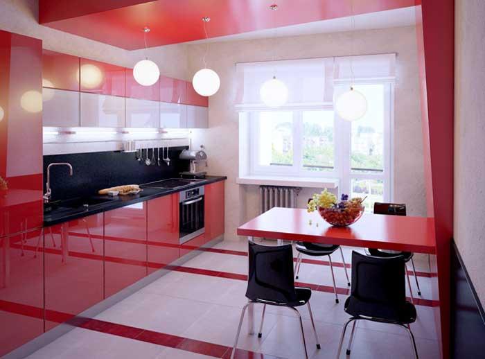 Красно-черная кухня дизайн. Фото 3