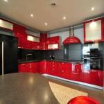 Кухня черная с красным. Фото 13