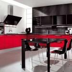 Кухня черная с красным. Фото 11