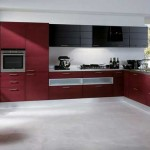 Дизайн кухни красно черного цвета. Фото 6