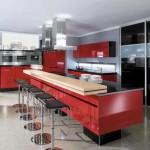 Кухня красного и черного цвета. Фото 5