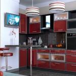 Кухня красная с черным. Фото 4