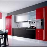 Фото кухни в красно-черном цвете