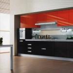 Фото красно-черной кухни в интерьере