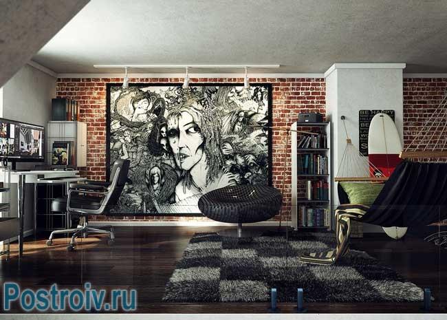 Декоративный кирпич во внутренней отделке квартиры. Фото