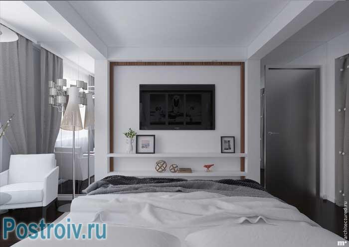 Зонирование спальни 18 кв. м. Фото 5