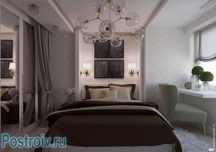 Коричневый цвет в спальне. Фото 16