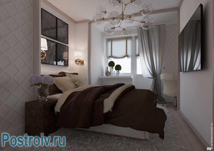 Зонирование спальни. Как создать стильный дизайн спальни. Фото 15
