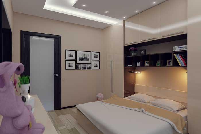 Декорирование стены фотографиями в детской спальне. Фото 11