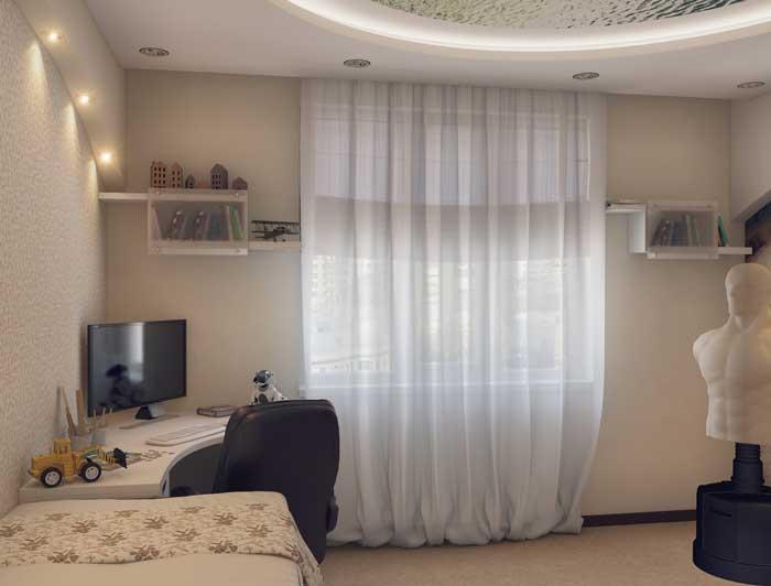 Оформление детской комнаты для мальчика 13, 14 лет. Фото 1