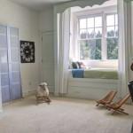 Дизайн светлых штор для детской девичьей комнаты