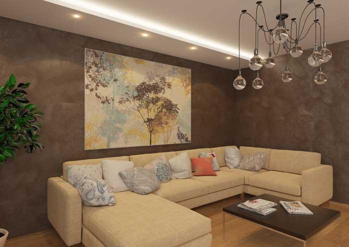 Картина в современном зале. Фото 6