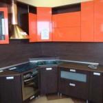 Кухня венге глянец оранжевый. Фото 13