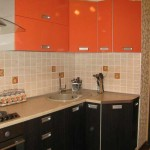 Эконом кухня оранжевый с венге. фото 10