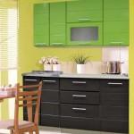 Кухня венге низ, зеленый верх. Фото 20