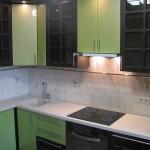 Как смотрится кухня венге с зеленым. Фото 19