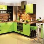 Кухня зеленая с венге. фото 16