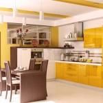 Кухня в желтом цвете. Фото 4
