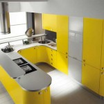Интересный вариант кухни в желтом цвете. Фото 19