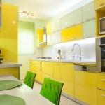 Дизайн кухни желто-зеленого цвета. Фото 8