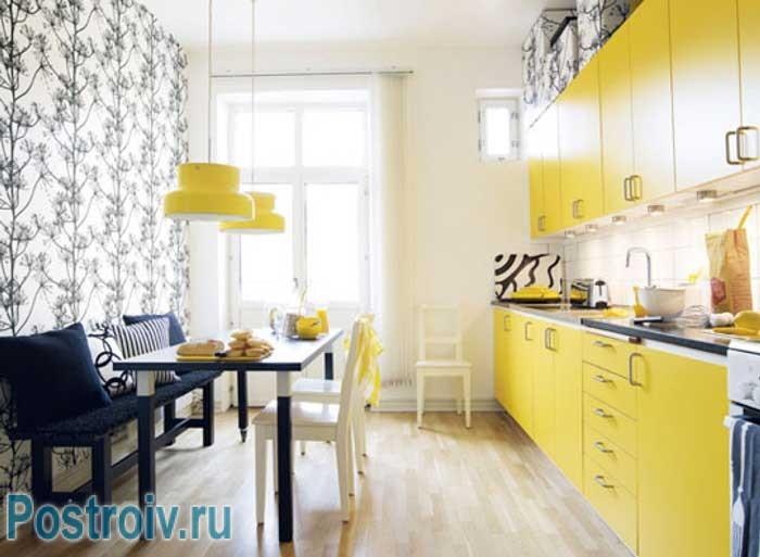 Стены на кухне фото