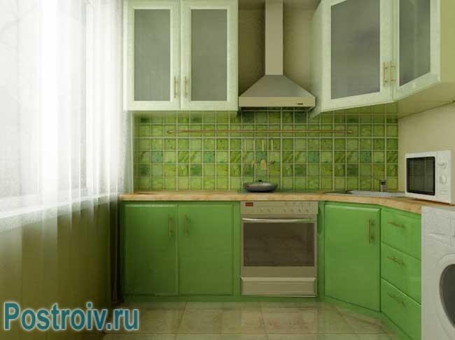 111Кухни в хрущевке с колонкой дизайн малогабаритные 6 квм