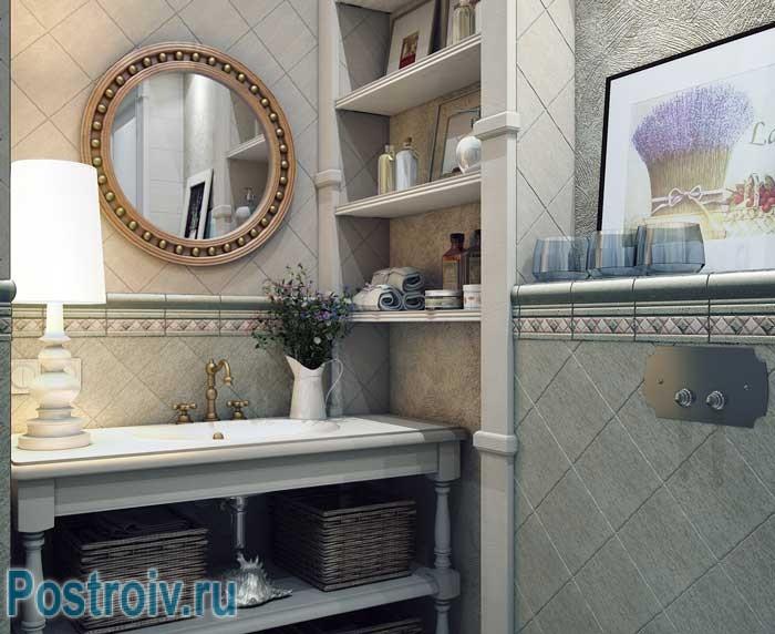 Ванная комната в стиле прованс. Фото