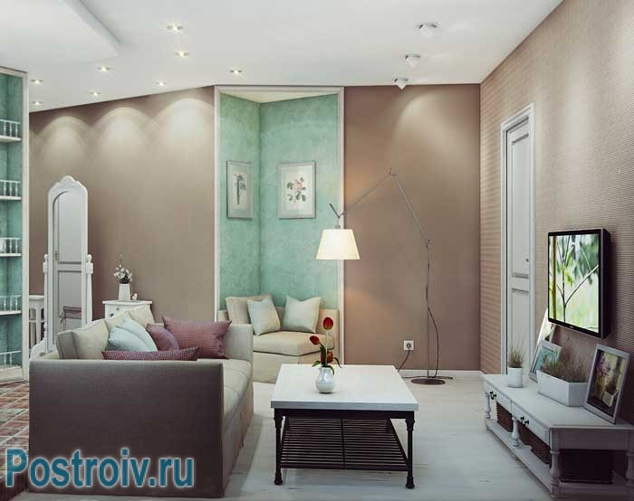 Стиль прованс в гостиной. Фото