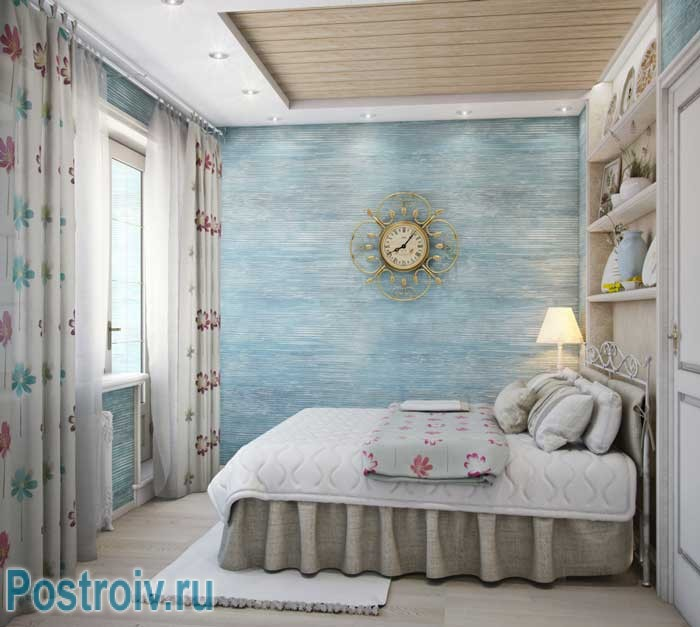 фото дизайн интерьера двухкомнатной квартиры в стиле прованс