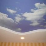 Облачный потолок в комнате ребенка дизайн