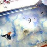 Фотопечать на натяжном потолке дизайн детской