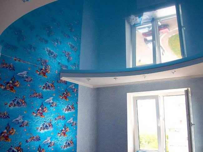 Натяжной потолок в детской 20 м2