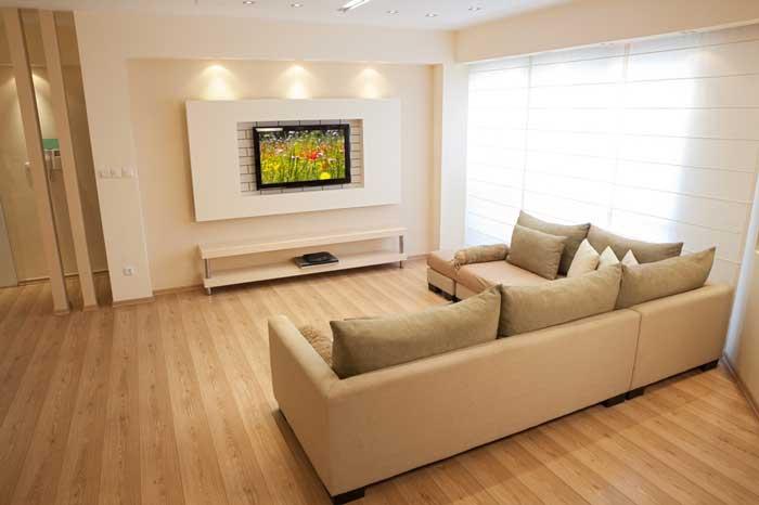 Стена с телевизором интерьер фото
