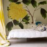 Светлые обои в оформлении спальни - Комбинация 5 фото